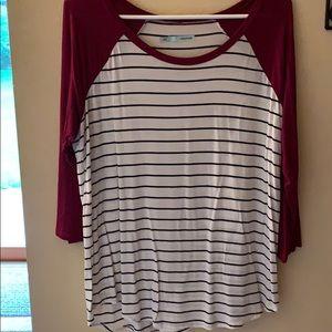 3/4 length tee shirt